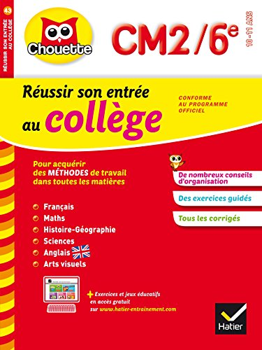 Collection Chouette: Reussir Son Entree Au College Cm2/6 French Edition