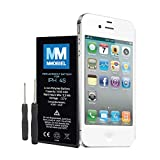 Battery for Iphone 4s Li-Ion 3,7v 1430 mAh 5.3 Whr incl. 2 x screwdrivers and manual MMOBIEL