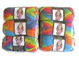 Lion Brand Color Waves Yarn, 6-Pack (Rainbow, 595-216)