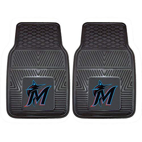 - Fanmats 8838 MLB-Florida Marlins Vinyl Universal Heavy Duty Fan Floor Mat