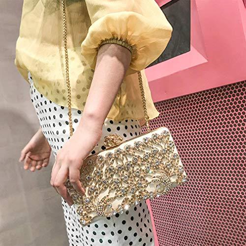 Embrayages Femmes Soirée Yanxh Sac Florale D'embrayage Silver Paillettes Petite De Pochette Fête rrx80Cwq