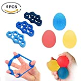 Stress Ball,Grip Ball, 3 Hand and Finger Strengthener Exercise Balls and 3 Finger Stretcher Resistance Bands Excercisers – Seven Different Levels Strengths Review