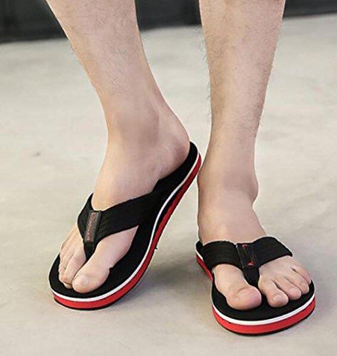 Tendencia 2017 de la palabra arrastrar hecha a mano del verano los zapatos de los hombres antideslizantes del ocio de las sandalias de la playa 1