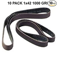 1x42 - 1000 Grit 10 Pack - Silicon Carbide Sanding Belts