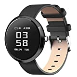 DSMART H2 Smart Fitness Tracker Watch with Step Counter Calories & High-presice Heart Rate/Blood Pressure/Sleep Monitor, Smart Wristband Sports Bracelet for men and womens (black)