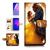 (for Samsung Note 9, Galaxy Note 9) Flip Wallet Case Cover & Screen Protector Bundle - A21078 Beauty Beast