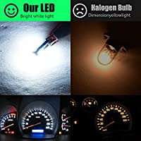30pcs T5 17 18 27 37 58 70 73 74 79 85 86 2721 LED Bulbs 3x3030 Chips LED Lamp for Map,Dashboard,Instrument panel,Dome,Gauge lights,6000K White.
