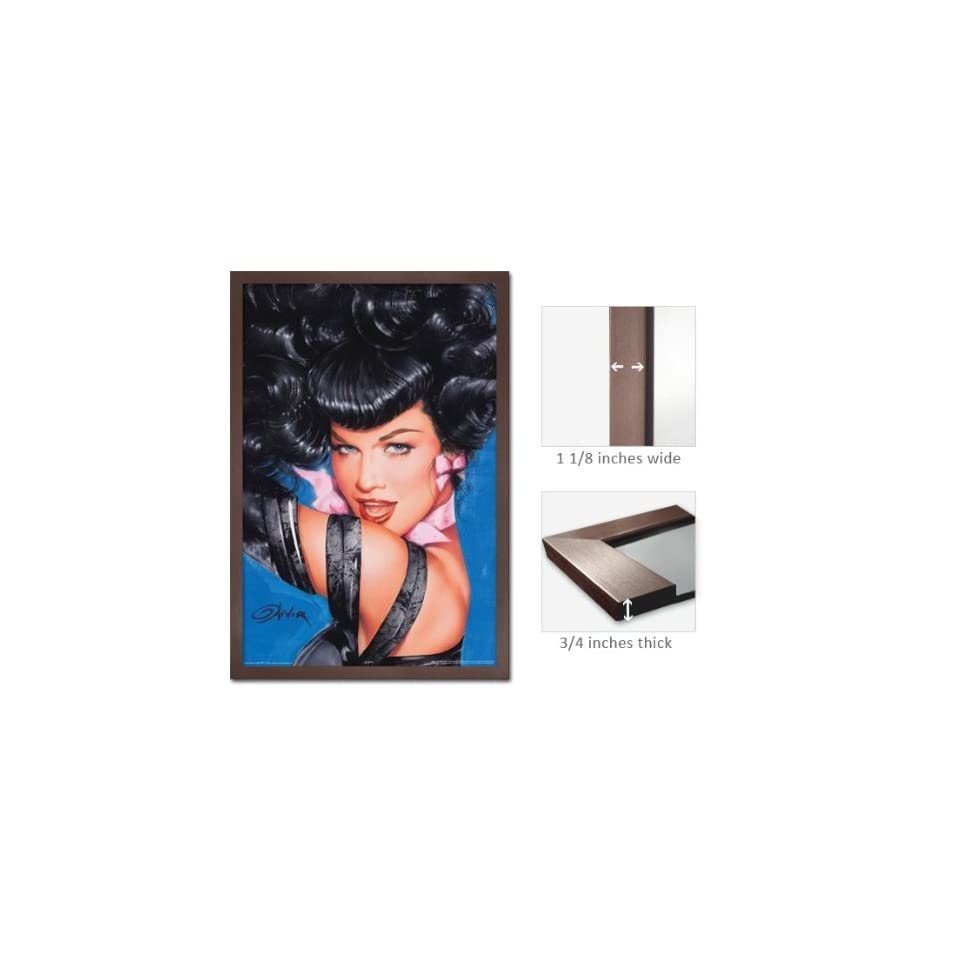 Slate Framed Bettie Page Eyes Poster Olivia Pin Up Fr 24952