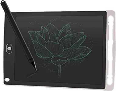 Tablero de Dibujo Tableta de Escritura a Mano de Pantalla LCD Tablero de Dibujo electrónico for niños con lápiz sobre el Tablero de Dibujo (Color : White, Size : 12inch): Amazon.es: Electrónica