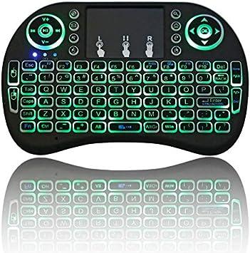 I8 Retroiluminación Mini Teclado Inalámbrico 2.4 GHz con Teclado Táctil Ratón para Raspberry Pi 3 Rpi 2 Mini Pc Smart TV Caja De TV Android: Amazon.es: Electrónica