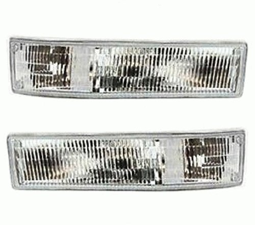 Gmc Safari Corner Light (Discount Starter and Alternator GM2521147 GM2520147 GMC Safari Replacement Corner Light Pair Plastic Lens Without Bulbs)