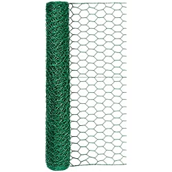 Garden Zone 24inx25ft 1in Green Vinyl Poultry Netting