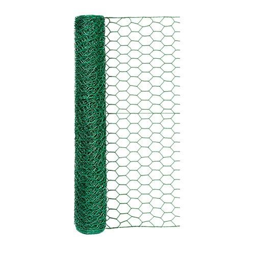 (Origin Point 100050568 20-Gauge 1-inch Green Vinyl Hex Netting 24inx25ft, 24