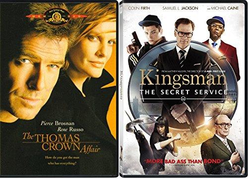 Espionage and Spies 2-DVD Set - Kingsman: The Secret Service & The Thomas Crown Affair Double Feature Movie Bundle