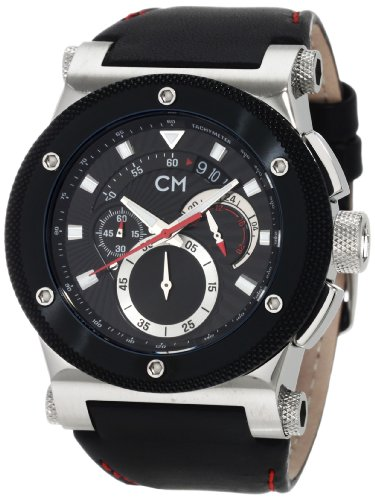 Monte Carlo Leather Watch (Carlo Monti Men's 'Parma' Quartz Stainless Steel and Leather Dress Watch, Color:Black (Model: CM701-122))