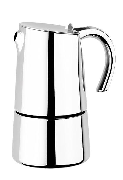 BRA Bella - Cafetera, capacidad 4 tazas, acero inoxidable 18/10