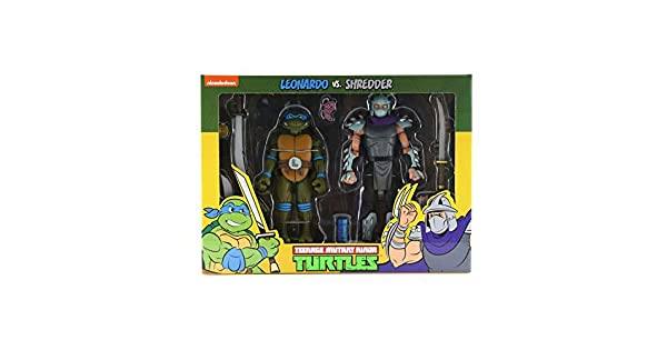 Amazon.com: NECA Leonardo vs Shredder Action Figure - Figura ...