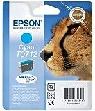 Epson T0712 Cyan Durabrite Ink Cartridge - Cheetah