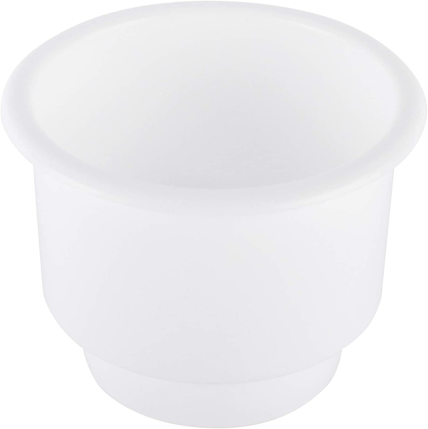 Artilife 4Pcs White Universal Plastic Cup Drink Can Holder with Drain Hole for Car Truck Boat Marine RV