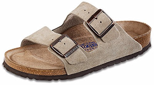 Birkenstock Unisex Arizona Taupe Suede Soft Foot Bed Sandals - 36 N Eu 5-5.5 2a(n) Us
