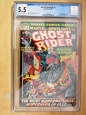 Marvel Spotlight #5 CGC 5.5 Off White/White Pages Origin/1st App Ghost Rider