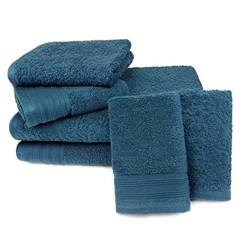 Kaufman - Zero Twist Jacquard Bath Towel Set. 2 Bath, 2 Hand