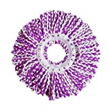 LiPing 6.3×14.17'' New Replacement 360 Rotating Head Easy Magic Microfiber Spinning Floor Mop Head (Multicolor)
