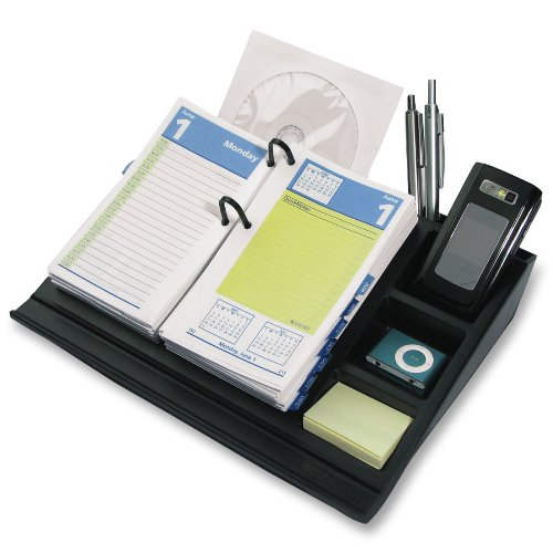 AT-A-GLANCE 17-Style Desk Calendar Base and Organizer, 10.5 x 8 Inches (J17-00)