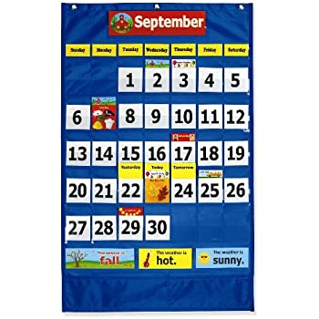 weather chart combined with calendar chart: Amazon com pacon calendar weather pocket chart 0020800