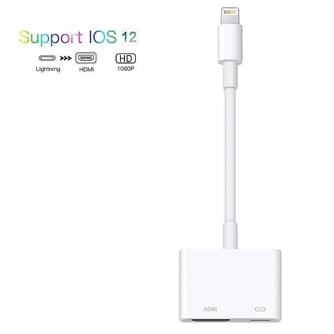 RUMINER - Cable Adaptador para iPhone iPad a HDMI, 2 en 1 ...