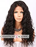 Chantiche 360 Lace Wig with Baby Hair, 360 Lace Frontal Wig Pre Plucked Brazilian Curly Human Hair Wigs for Black Women Natural Brown 22inches