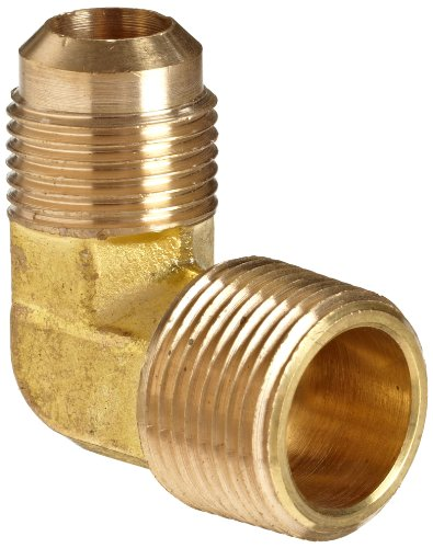 Anderson Metals Brass Tube Fitting, 90 Degree Elbow, 3/8