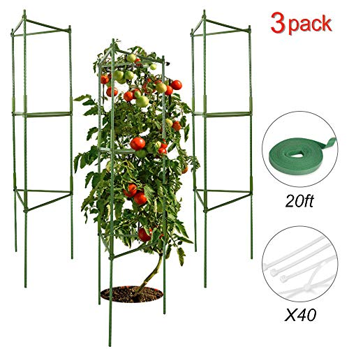 V VONTOX Garden Plant Cage Support Tomato Cage for Vertical