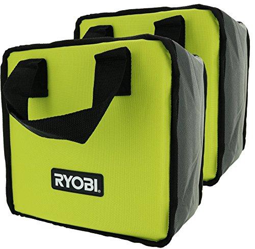 Ryobi Lime Green Genuine OEM Tool Tote Bag (2 Pack) (Tools Not Included) by Ryobi