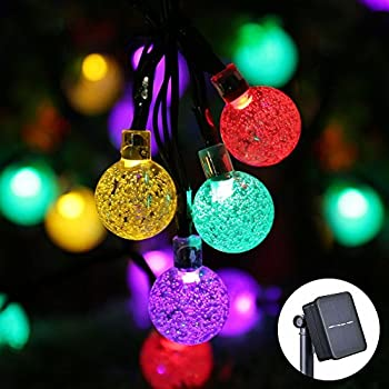icicle solar christmas lights 20ft 30 led solar string lights outdoor globe fairy lighting for