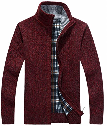 Knitted Stand Mens Jacket today 2 Collar Cardigan UK Up Sweater Fashion Zip X5Uqx0qgRw
