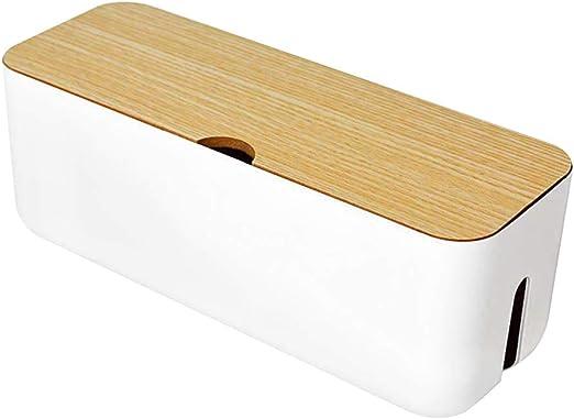 ORETG45 - Caja de almacenamiento de cables, organizador de cables, organizador de cables, antipolvo, escritorio para el hogar: Amazon.es: Hogar