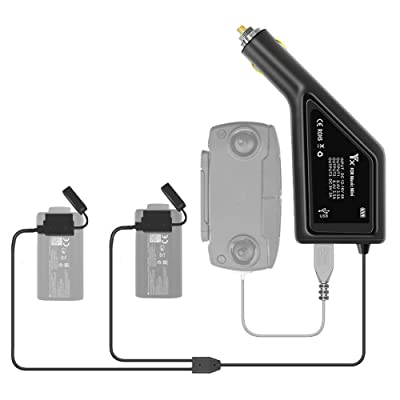 Anbee 3-in-1 Battery Car Charger Adapter for DJI Mavic Mini Drone Battery & Remote Controller: Camera & Photo [5Bkhe2003172]
