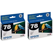 Epson 2 x Black Ink Cartridge for the Stylus Photo R380, R260, and RX580 Inkjet Printers.