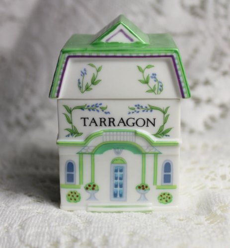 (Lenox 'Spice Village' Porcelain Victorian House Spice Jar - Tarragon)