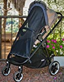 Sun Shade for Strollers (Long). Universal Adjustable SPF 30+ Sunshade with See Through. Your Baby Will See the World and Will Be Protected.. by IntiMom