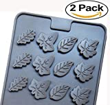 : Mini Skater 2 PSC 24-cavity Leaf Shape Silicone Mold for Making Soap, Candle, Candy, Chocolate, and More (Leaf Shape Mold)