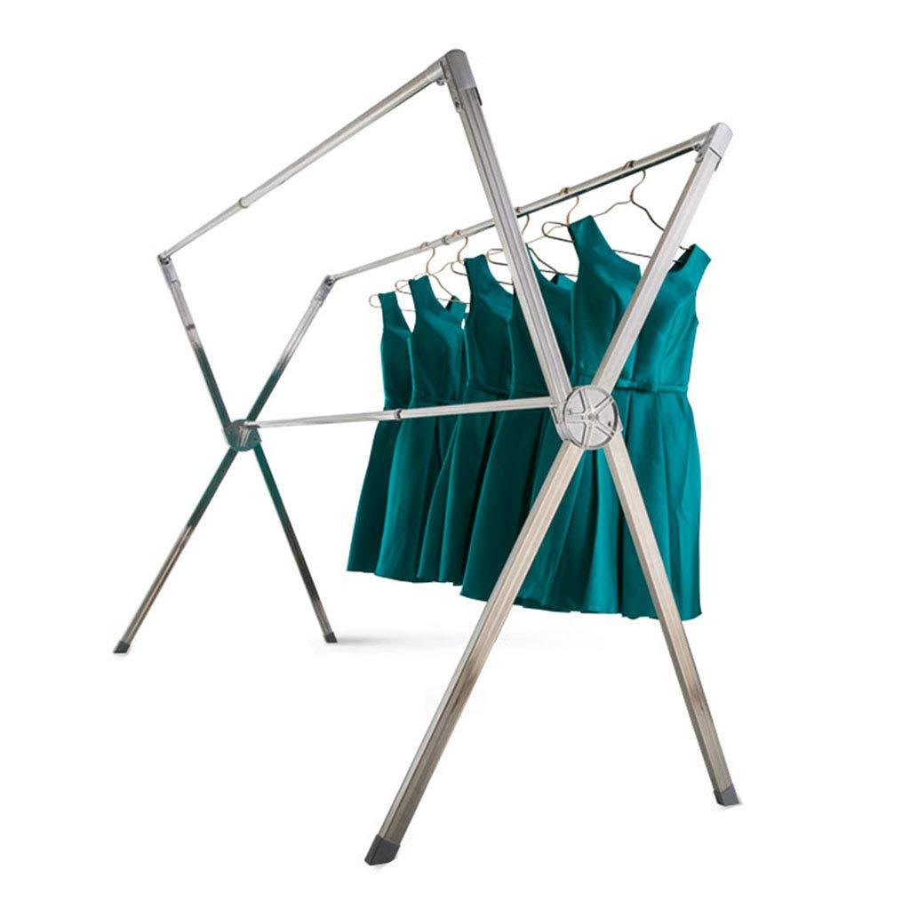 衣類ハンガー 屋内折り畳み衣類のレール 多機能乾燥ラック 床X乾燥ラック 伸縮乾燥ラック 寝室ハンガー バルコニー乾燥ラック 物干し竿 (Color : Silver, Size : 157*82*142cm) B07KW5H91F Silver 157*82*142cm