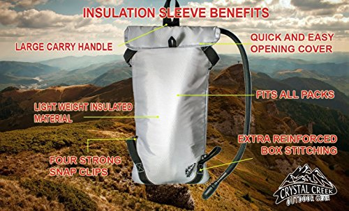 3L-Hydration-Bladder-Insulated-Sleeve-by-Crystal-Creek-Easy-Cleaning-and-Filling-Water-Reservoir-BPA-Free-Tastefree-FDA-Approved-Keep-Water-Cool-while-Hiking-Cycling-Running-and-Kayaking
