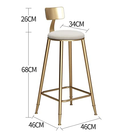 Admirable Amazon Com Velvet Gold Bar Stool Wrought Iron High Stool Dailytribune Chair Design For Home Dailytribuneorg