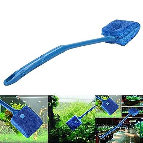 KINGDUO Yani Hp-Aq02 Acuario Vidrio Algas Cristal Limpiador Pincel Limpio Pecera Limpiador: Amazon.es: Hogar