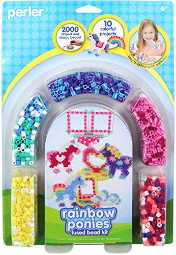 Perler Beads Fused Bead Kit, Rainbow Pony - Perler Bead Fuse New
