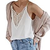 Kingstop Women Summer Sleeveless Vest Tank Tops Blouse V-Neck T-Shirt Plus Size