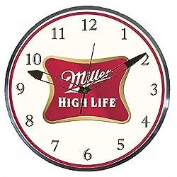 Checkingtime LLC - 15 Miller High Life LED Lighted Pam Advertising Clock, Metal Shell, Real Glass