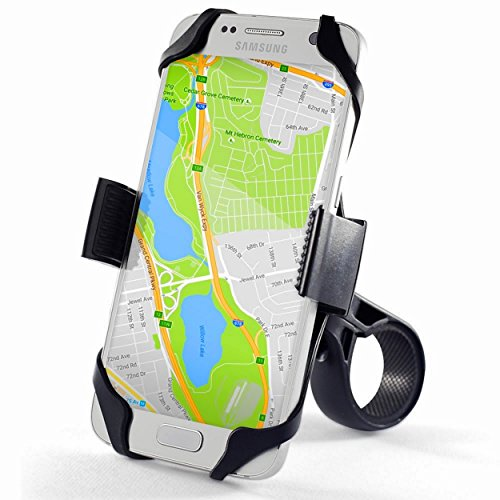 Universal Bike Phone Mount Holder,For- iPhone 6 & 7 Plus, iPhone 6S (+), 5S / 5 etc..(all iPhones) Samsung Galaxy S7/S6/S5/S4 Nokia, Motorola,Nexus,LG. Fits Securely to Bicycle Motorcycle Handlebar